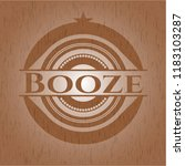 booze retro wooden emblem | Shutterstock .eps vector #1183103287