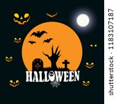 happy halloween design element... | Shutterstock .eps vector #1183107187