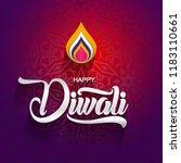 happy diwali traditional indian ...   Shutterstock .eps vector #1183110661