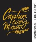 capture the moment. hand... | Shutterstock .eps vector #1183111504