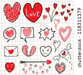 collection of hand drawn sketch ...   Shutterstock .eps vector #118311379