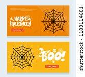 happy halloween invitation... | Shutterstock .eps vector #1183114681