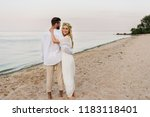 back view of bride and groom... | Shutterstock . vector #1183118401