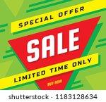 sale concept banner vector... | Shutterstock .eps vector #1183128634