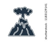 eruption icon vector isolated... | Shutterstock .eps vector #1183129141