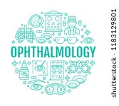ophthalmology  eyes health care ... | Shutterstock .eps vector #1183129801