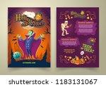 vector halloween invitation on... | Shutterstock .eps vector #1183131067