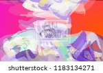 abstract cover template with... | Shutterstock .eps vector #1183134271