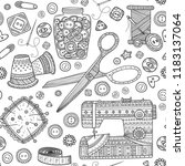 vector seamless pattern with... | Shutterstock .eps vector #1183137064