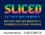 sliced letters and numbers with ... | Shutterstock .eps vector #1183138474