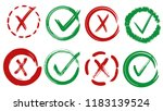 tick and cross vector signs.... | Shutterstock .eps vector #1183139524