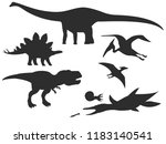 set of silhouettes of different ... | Shutterstock .eps vector #1183140541