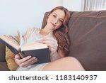 beautiful smiling young woman... | Shutterstock . vector #1183140937