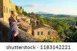 montepulciano  tuscany  italy ... | Shutterstock . vector #1183142221