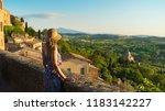 montepulciano  tuscany  italy ... | Shutterstock . vector #1183142227