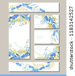 muscari set with visitcards and ... | Shutterstock .eps vector #1183142527