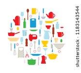 vector illustration of kitchen...   Shutterstock .eps vector #1183143544