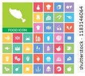 food icon set. very useful food ...   Shutterstock .eps vector #1183146064