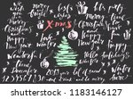 christmas and new year hand... | Shutterstock .eps vector #1183146127