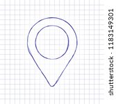 map label icon. hand drawn... | Shutterstock .eps vector #1183149301