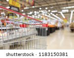 supermarket grocery store with... | Shutterstock . vector #1183150381