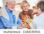 seniors with dementia play with ... | Shutterstock . vector #1183150531
