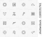 security line icon set with... | Shutterstock .eps vector #1183151761