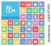movie and cinema icon set. very ...   Shutterstock .eps vector #1183157491