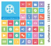 movie and cinema icon set. very ...   Shutterstock .eps vector #1183157494