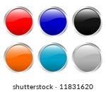 glossy web buttons. vector... | Shutterstock .eps vector #11831620