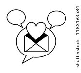 envelope mail with heart and... | Shutterstock .eps vector #1183163584