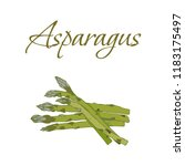 illustration of tasty veggies.... | Shutterstock .eps vector #1183175497