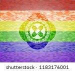 crossed bandage plaster icon... | Shutterstock .eps vector #1183176001