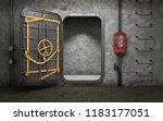 Armored Heavy Metal Door In Old ...