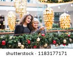 a portrait of grandmother and... | Shutterstock . vector #1183177171