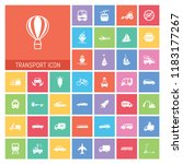 transport icon set. very useful ...   Shutterstock .eps vector #1183177267