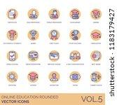 online education rounded vector ... | Shutterstock .eps vector #1183179427