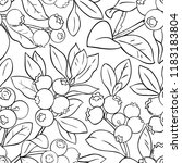 blueberry vector pattern | Shutterstock .eps vector #1183183804