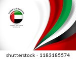 national flag color of united... | Shutterstock .eps vector #1183185574