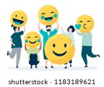 characters of people holding...   Shutterstock .eps vector #1183189621