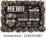 coffee menu template for... | Shutterstock .eps vector #1183192387