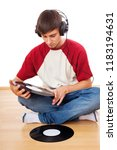 man with music lp | Shutterstock . vector #1183194631