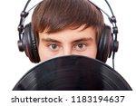 man with music lp | Shutterstock . vector #1183194637
