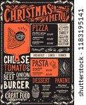 christmas menu template for... | Shutterstock .eps vector #1183195141