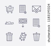 outline 9 waste icon set. money ...   Shutterstock .eps vector #1183195324