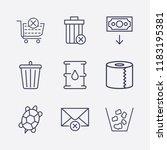 outline 9 waste icon set....   Shutterstock .eps vector #1183195381