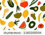 fruit and vegetables... | Shutterstock .eps vector #1183200034