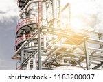 industrial zone the equipment... | Shutterstock . vector #1183200037