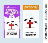 happy halloween invitation... | Shutterstock .eps vector #1183202101