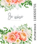 wedding invite  invitation ... | Shutterstock .eps vector #1183202731